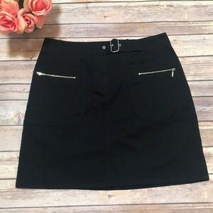 Loft black mini skirt. Size 6.